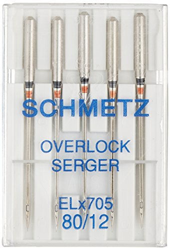 ELX705 Serger Needles -Size 12/80 5/Pkg
