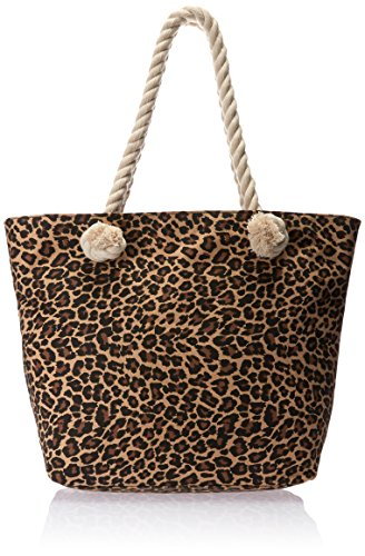 "ToGoGo Fashion Women's Leopard Canvas 17"" X 6"" X 12.5"" Sling Tote, Black, One Size"
