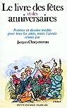 Le Livre des fêtes et des anniversaires par Bermond