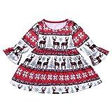 Beikoard Kleinkind Neugeborenes Baby Drucken Kleider Outfits Weihnachten Verkleidung Outfit Set Weihnachten Cartoon Deers Print Kleider