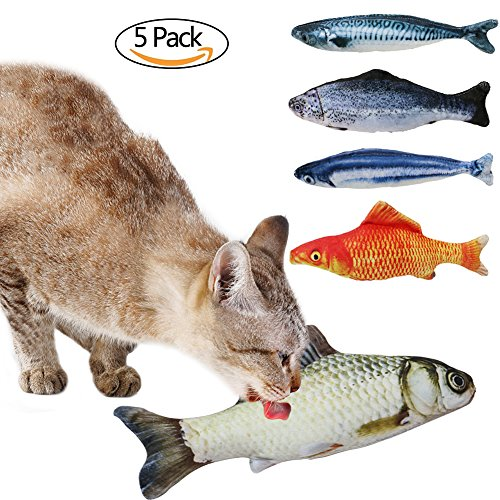 nip Cat Toys Simulation Plush Fish Shape Doll Interactive Pets Pillow Chew Bite Kick Supplies for Cat Kitten Kitty (Wie Fische Schlafen)