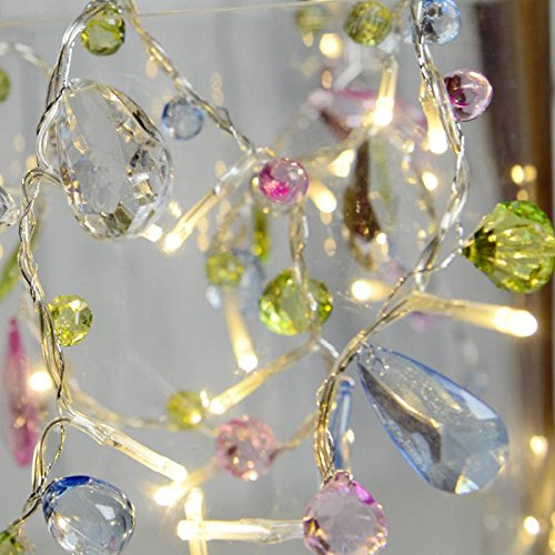 Magideal 10-LED Fairy Chain Bead Light Party Wedding Decor String Lamp Colorful 1.5M