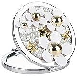 La Vogue Perfume Daisy Pattern Women Portable Makeup Compact Mirror Purse Handbag Mirror