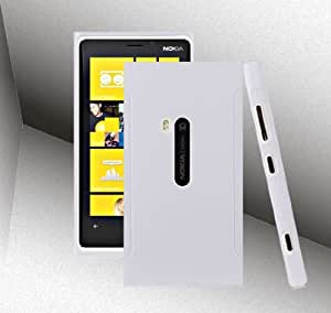 Bingsale® Matt TPU Skin Case Nokia Lumia 920 Silikon Tasche Hülle - Silicon Protector Schutzhülle weiß