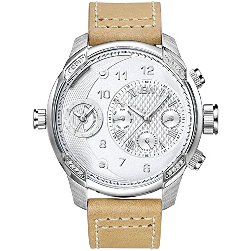 JBW Watch with Swiss Quartz Movement Man G3 Beige 46 mm