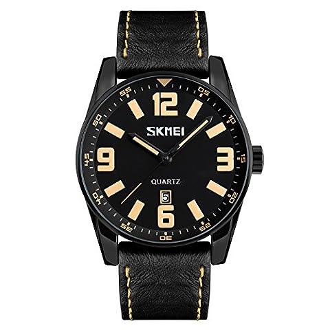 Longqi montre Skmei mâle Business étanche montres à quartz avec calendrier Affichage Sports Causal Style simple Cool Hommes Montre-bracelet
