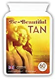 Bronze Tanning Pills, Beta Carotene Tanning Capsules With Natural Mixed Carotenoids & Astaxanthin | Use With or Without Sun for a Healthy, Safe Tan | Suitable for Vegetarians (60) from Distributed by Be-Beautiful-Online