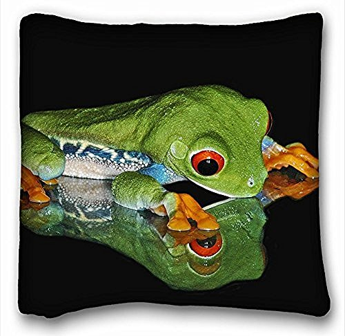 Decorativo Quadrato Throw Pillow Case animali rana