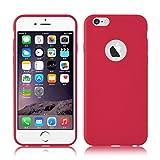 JAMMYLIZARD Cover iPhone 6, [Jelly] Custodia Case in Silicone Morbido Ultra Slim Skin per Apple iPhone 6 e Apple iPhone 6s, ROSSO MAGENTA
