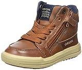Geox Jungen J Arzach Boy F Hohe Sneaker, Braun (Cognac/Navy), 30 EU