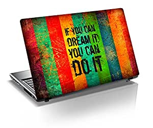 "Monika Creations Motivational Quotes 15.6 inch Laptop Skin, Fits for 13.3"", 14"", 15"", 15.6"", 16"" Screen"