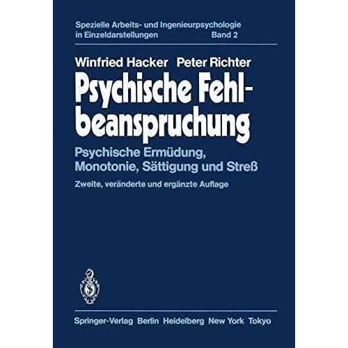 [(Psychische Fehlbeanspruchung)] [By (author) Winfried Hacker ] published on (July, 2012)