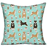 Doormat-bag Shiba Inu Coffee Print Dog And Coffees Soft Pillow Covers for Sofa Bedroom Car - 18