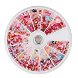 TRIXES 1200Pc Mixed Nail Art Assortment Wheel Set