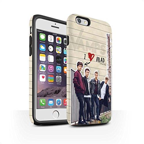 Offiziell The Vamps Hülle / Matte Harten Stoßfest Case für Apple iPhone 6 / Pack 5pcs Muster / The Vamps Geheimes Tagebuch Kollektion Brad