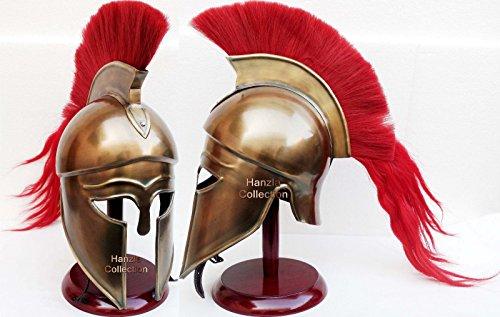 Historicalmuseum Mittelalter Hollywood Kostüm Armor römischen Griechischen Korinthischer Helm mit Holz Ständer