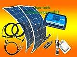 200 Watt Flexi Wohnmobil Camping Solaranlage, 12 Volt SET, von bau-tech Solarenergie GmbH