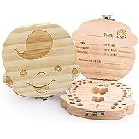 Glamza - Caja de madera para guardar los dientes de los niños pequeños