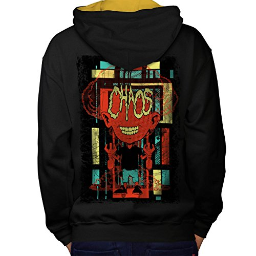 Chaos Zombie Tot Mode Kind Chaos Men M Kontrast Kapuzenpullover Zurück | (Toten Kostüme Männliche Tag Der)