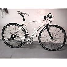 Bicicleta híbrida para carreras, carretera o paseo, de aluminio, 27V, blanca, negra, gris o azul