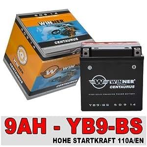 Batterie aGM pour moto - 9 ah cB9-b yB9-50914 yB9-bS b piston aprilia piaggio vespa sfera 12 v