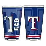 MLB Texas Rangers #1 Dad Pint Glass Set (2-Pack), 16-Ounce