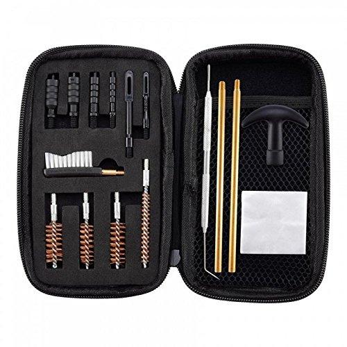 inigungsset .22.357.38,9mm.45 Kaliber Pistolenreinigungsset Pinsel und Jag ()