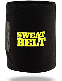 KPM™ Shaper Belt, Slimming belt, Waist shaper, Tummy Trimmer, Sweat slim belt, Belly fat burner, Stomach fat burner, Hot shaper belt, Best Quality, Super stretch, Unisex body shaper for men & women, (Free Size, Black)