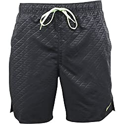 "Nike Men's Core Emboss 7"" Volley Swim Trunks S Black"