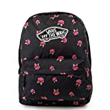 Vans Realm Backpack Zaino Casual, 42 cm, 22 liters, Nero (BLACK ROSE)