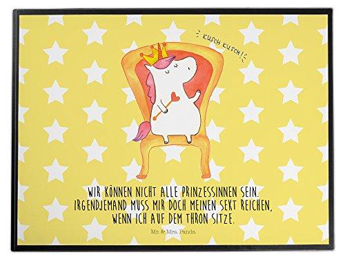 Mr. & Mrs. Panda Schreibtischunterlage Einhorn König - 100% handmade in Norddeutschland - Einhorn, Unicorn, König, Prosecco, Präsident, Bundeskanzler, Herrscher, Kaiser, Prinzessin, Krone Schreibtischunterlage, Schreibtisch, Unterlage Einhorn, Unicorn, König, Prosecco, (Kunststoff Kronen King)