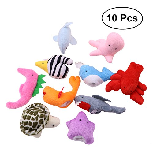 TOYMYTOY 10pcs Sea Animal Finger Puppets Animal Finger Dolls Story Tell Puppets Preschool Education Toys