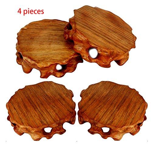 ieasycan 4 Stück Holzuntersetzer A Lot Retro Stil Home Kreative Möbel Hitzeisolierung Cup Pad Holz Rund Untersetzer für Hotel Bar #1 -