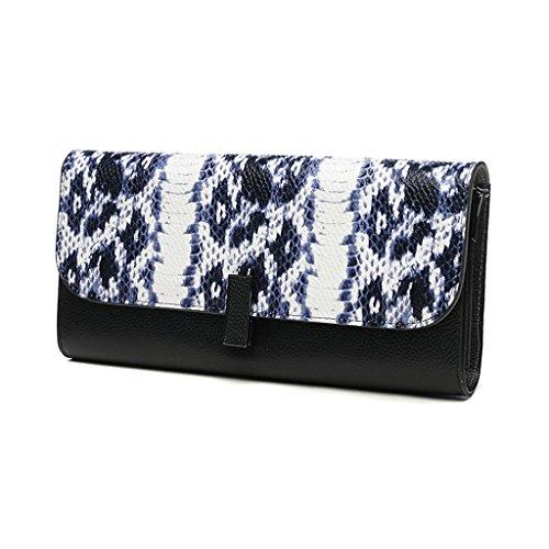 Home Monopoly Borsa borsa frizione donna grande capacità pacchetto pacchetto banchetto pacchetto / con cinghia tracolla ( Colore : Arancia ) Blu