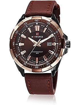 neotrix Luxus naviforce Edelstahl Herren Militär Quarz Armbanduhr Extreme Sports 30m Wasser Widerstand Armbanduhr...