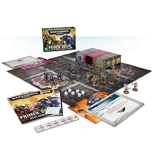 Games Workshop 03100199018 - Primer Golpe Caja de Inicio de Warhammer 40000  - 15 Figuras, Tablero, Libreto Reglas, Pieza Escenografia, Dados y Regla -