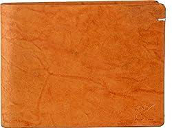 Styler King Men Tan Genuine Leather Wallet��(6 Card Slots)