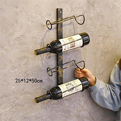 SchwimmendeRegale Sam Uncle Sam LI   Retro Kreativ Geschmiedet Eisen Wein  Rack Hängende Wand Dekorationen Hanging Wein Rack Wohnwände (Farbe : Style  2)