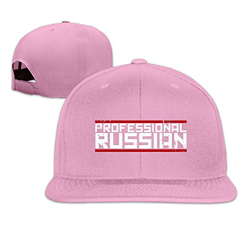 82 Mm Rose (roung FPS russia-professional Russische Logo Baseball Cap, Herren, rose)