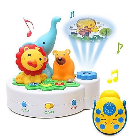 Boîte à Musique en Plastique pour Bébé avec Projecteur Monde