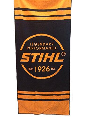 Preisvergleich Produktbild Stihl Strandtuch Badetuch 80 x 180 cm mit Stihl Logo, 100 % Baumwolle