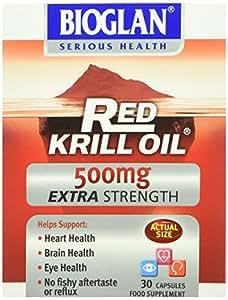 Bioglan Huile de Krill Rouge Extra Forte 500mg Boîte de 30 Gélules