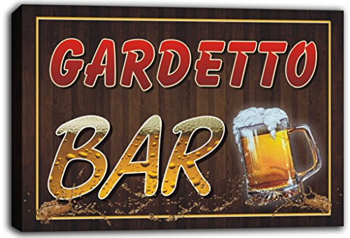 scw3-092731-gardetto-name-home-bar-pub-beer-mugs-cheers-stretched-canvas-print-sign