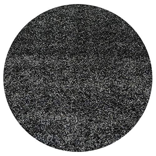 Serdim Rugs Alfombra, Polipropileno, Antracita, Round 120x120cm(4x4')