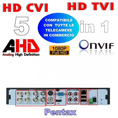 Nuovo dvr IDRIDO 5 IN 1 visione HD, AHD, IP, CVI, TVI 8 CANALI TRADIZIONALI 16 CANALI IP