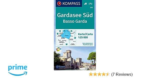 Karte Gardasee Lazise.Kompass Wanderkarte Gardasee Süd Basso Garda Wanderkarte Mit