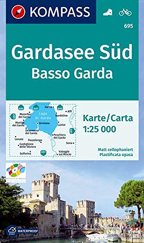 Gardasee Süd, Basso Garda: Wanderkarte mit Radwegen. GPS-genau. 1:25000 (KOMPASS-Wanderkarten, Band 695)
