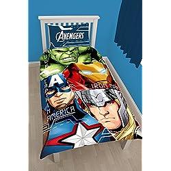 Marvel Edredón Individual Avengers «Tech» - Diseño con Estampado Grande