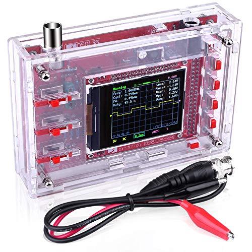 Kit Osciloscopio Digital DSO138 + Cáscara / Código Abierta 2.4 inch TFT 1Msps con Sonda / Kit de Aprendizaje Quimat