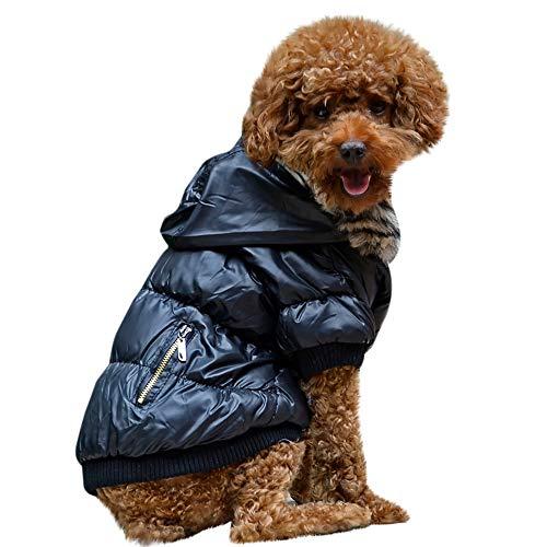 Fenverk Hundeweste Winter Mantel Warm Winddicht Jacke Bekleidung Kalt Wetter Zum Klein Mittel Groß Hunde Haustier Katze HüNdchen Kleidung KostüM(Schwarz,XS)